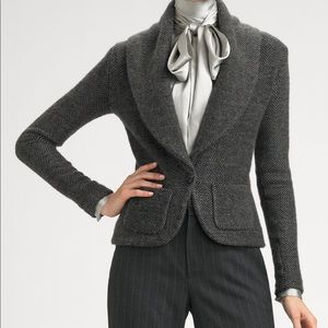 Ralph Lauren Black Label Cashmere Tweed Blazer XS